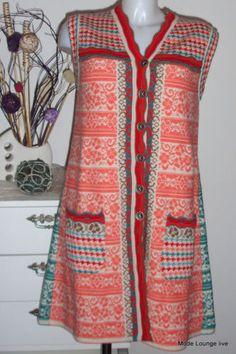 Ivko Wool Strick Kleid Long Jacquard M 38 Pullover Dress Floral Pattern White   eBay