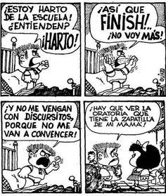 Manolito de Mafalda y la oratoria de la zapatilla: Matemolivares