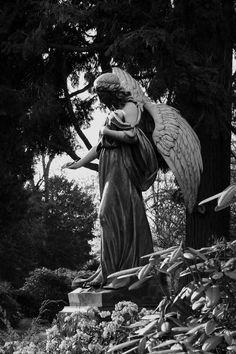 Grave angel at Düsseldorf northern graveyard - Grabengel auf dem Düsseldorfer Nordfriedhof #graveyard #graveangel #grabengel