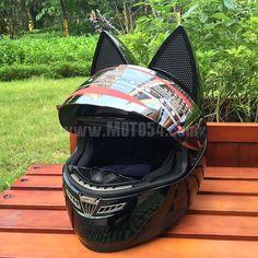 Мотошлем с кошачьими ушками - цена, купить   Мото магазин Moto54