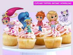 Shimmer and Shine Cupcake Toppers/ Printables/ Instant