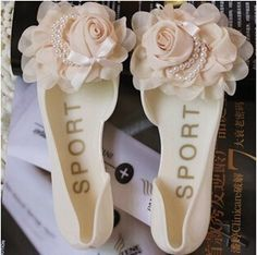 Buy shoes woman sandals lovely pink rose jelly shoes candy color flat zapatos mujer sandals summer style sandalias at Wish - Shopping Made Fun Buy Shoes, Me Too Shoes, Bridal Sandals, Cheap Flowers, Jelly Shoes, Candy Colors, Pink Summer, Flat Shoes, Shoes Women