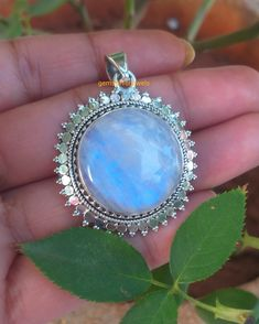 Natural Moonstone Pendant, 92.5% Silver Pendant, 20MM Round Stone Pendant,Statement Necklace, BestChristmas gifts,Rainbow moonstone Necklace Moonstone Necklace, Moonstone Pendant, Necklace Price, Necklace Lengths, Ruby Jewelry, Gemstone Jewelry, Sterling Silver Pendants, 925 Silver, June Birth Stone