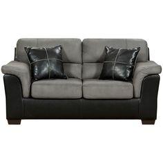 Flash Furniture 6202LAREDOGRAPHITE-GG Exceptional Designs Laredo Graphite Microfiber Loveseat