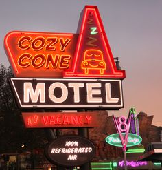 16 Neon signs were created for Cars Land at Disney's California Adventure