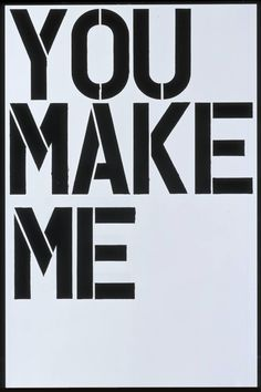Christopher Wool 'Untitled (You Make Me)', 1997 © Christopher Wool