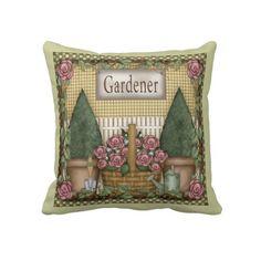 Garden Pillow by DoodleFairy on Zazzle