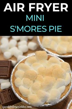 Air Fryer Mini S'mores Pies
