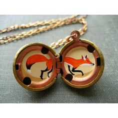 hand painted inside of a locket
