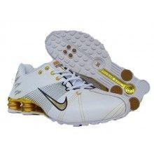 Nike Shox R4 Flywire Mens Running White Golden