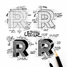 Today I thought I share something different with you guys. I git a few question how to draw block letters / letters. In only 4 steps you… Lettering Guide, Hand Lettering Fonts, Creative Lettering, Lettering Styles, Lettering Tutorial, Block Lettering, Typography Letters, Lettering Design, Drawing Letters