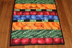 Quilted Table Runner Farm Fresh Summer Time by CynthiaBDesigns