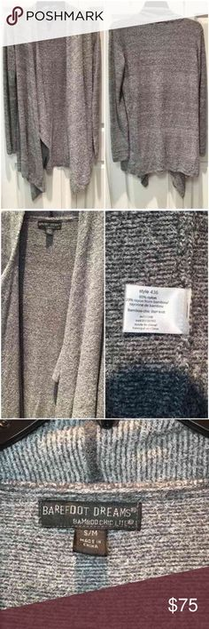 Barefoot Bamboo Chic Lite Super Soft Cardigan Gray New with tags Barefoot Dreams  Never worn  Size S/M  Color: Heathered Graphite Pearl (Grey)  Excellent condition  Very Very soft feels so comfortable  Paid $92 at Nordstrom ... OFFERS WELCOME❤ Barefoot Dreams Sweaters Cardigans