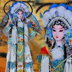 Mu Guiying White 15.4 Inch Chinese Opera Figurine