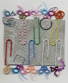Tatting, Beading and Needlework: Twilling & Tatting on Paperclips
