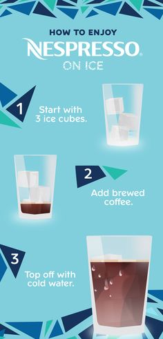 Beat the heat with summer's most refreshing drink: Nespresso iced coffee. #NespressoOnIce