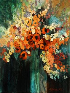 Artwork of Karen Ku - Red Floral