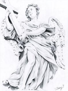 Renaissance Angel Drawing