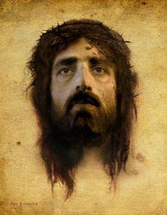 Rostro real de Jesucristo a partir del velo de la verónica -ray-downing.
