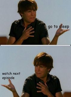 Watching Netflix. Zac Efron knows the struggle.