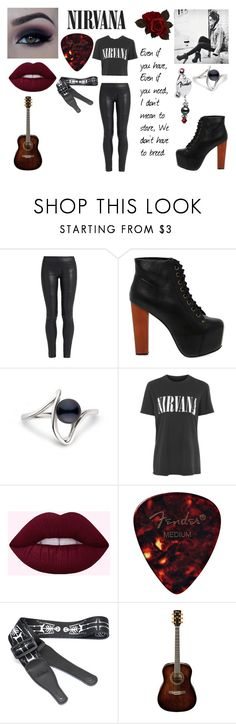 """""""Nirvana Alice"""" by gsusan ❤ liked on Polyvore featuring The Row, Jeffrey Campbell and Topshop"""