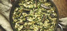 Portobello and Asparagus Farfalle | Chef'd