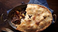 This super-luxe short rib pot pie is sure to win over your dinner guests. Braised Short Ribs, Beef Short Ribs, Beef Bourguignonne, Beef Pot Pies, Thing 1, Pie Recipes, A Food, Food Processor Recipes