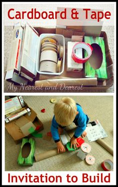 Invitation to Build with Cardboard and Tape | My Nearest And DearestMy Nearest And Dearest
