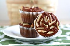 Spiced Paleo Pumpkin Almond Muffins via  Cait's Plate. Very yummy with a few Enjoy Life Choco Chips thrown in ;)