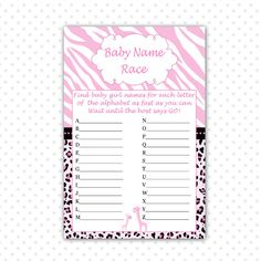 Best ideas for baby shower boy theme giraffe pink Baby Shower Party Games, Boy Baby Shower Themes, Baby Boy Shower, Leopard Baby Showers, Gold Baby Showers, Pink Giraffe, Baby Shower Giraffe, Baby Makes, Baby Girl Names