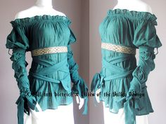 Renaissance Clothes Steampunk Blouse Victorian by LoVDdesign, $125.00