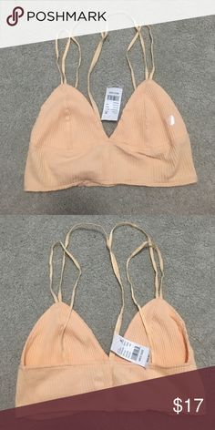 Pacsun Peach Bralette soft material, triangles not seethrough, elastic straps. offers welcome PacSun Intimates & Sleepwear Bras