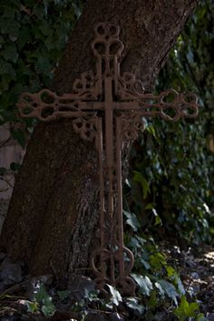 Wrought Iron Cross by Anita Meyer on Flickr San Damian, Old Rugged Cross, Sign Of The Cross, Home Altar, Christian Symbols, Holy Cross, Metal Crafts, Crucifix, Wrought Iron
