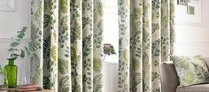 Green New Forest Lined Eyelet Curtain Collection