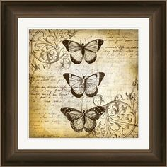 Butterfly Framed Giclee Print from the Natural & Neutral event at Joss and Main!   Orig. Retail $360. This Event $135.