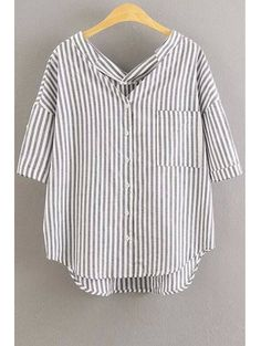 SHARE & Get it FREE | Striped 3/4 Sleeve Loose Fitting BlouseFor Fashion Lovers only:80,000+ Items • New Arrivals Daily Join Zaful: Get YOUR $50 NOW!