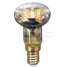 2,86€ Filamento LED 2W E14 R39 Bianco caldo  SKU: 4309   VT: VT-1961