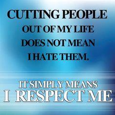 Respecting me