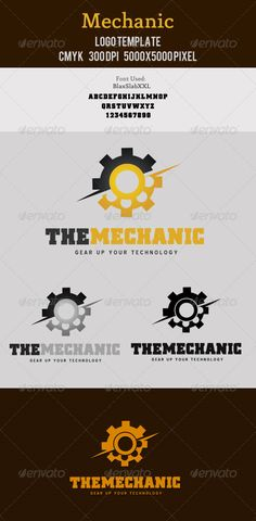 Mechanic Logo Template  #GraphicRiver         Mechanical/industry/tech related logo design. Very organized and customizable PSD file.   Font: Blue Highway Download Link- Click  Me   BlaxSlabXXL Download Link- Click  Me  Features:   5000×5000 pixel  300 DPI   CMYK   Resizable  Free Font Used   Thank you        Check out my Business Cards    Check out my Flyers  Check out Corporate Stationaries   Check out my Exclusive Logo Designs               Check out my Signage Designs  Need A…