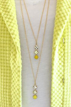 Delicate Two Tier Necklace Tutorial.  (I'd do it a bit different, but this also includes a link to a cool Etsy store.)