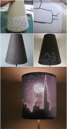 Hace un par de fines de semana, compartí un DIY de una lámpara semi-industrial realizada por mí para el dormitorio de mi hija, utilizand...