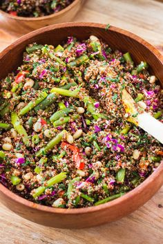 Easy Quinoa Vegetarian Salad #salad #healthy