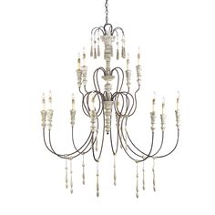 Large Hannah chandelier by Currey and Company.