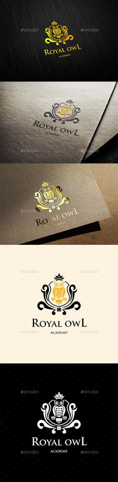 Royal Owl Logo — Vector EPS #academy #school • Available here → https://graphicriver.net/item/royal-owl-logo/11393911?ref=pxcr