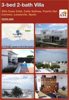 3-bed 2-bath Villa in Villa Casa Odal, Calle Salinas, Puerto Del Carmen, Lanzarote, Spain ►€259,000 #PropertyForSaleInSpain