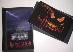 Halloween cards  Halloween  card  Skull Pile  Jack o by Lesterarts, $5.00