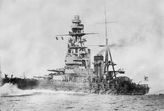 Japanese battleship Mutsu circa 1922.