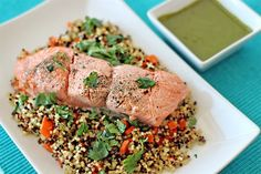 Moroccan Salmon with Quinoa and  Carrots food healthy healthy food carrots salmon healthy eating food images food pictures moroccan quinoa