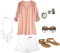 White & Pink, created by taytay-268 on Polyvore