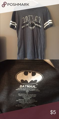 Batman Graphic Tee DC Comics Graphic Tee (Grey/white) DC Tops Tees - Short Sleeve